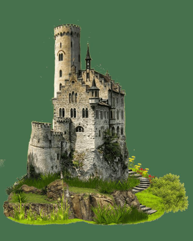 Imagem PNg de um castelo com torre